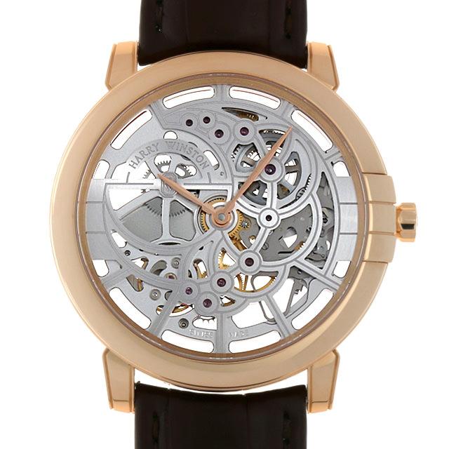 ハリーウィンストン ミッドナイト スケルトン MIDAHM42RR001 メンズ(07R7HWAU0002)【中古】【腕時計】【送料無料】