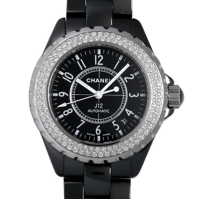 【48回払いまで無金利】SALE シャネル J12 黒セラミック ベゼルダイヤ H0950 メンズ(0A5QCHAU0001)【中古】【腕時計】【送料無料】