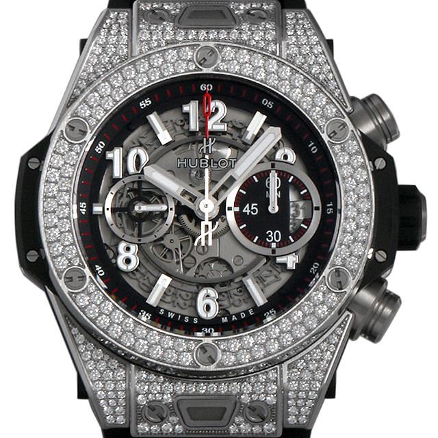 【48回払いまで無金利】ウブロ ビッグバン ウニコ チタニウム パヴェ 411.NX.1170.RX.1704 メンズ(002GHBAR0013)【新品】【腕時計】【送料無料】