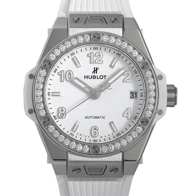 ウブロ ビッグバン ワンクリック スチールホワイトダイヤモンド 465.SE.2010.RW.1204 ボーイズ(ユニセックス)(002NHBAN0010)【新品】【腕時計】【送料無料】