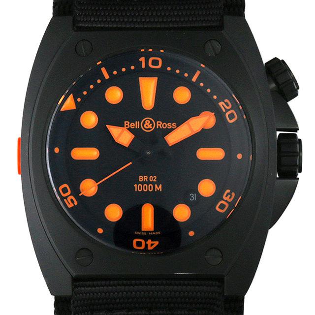 ベル&ロス マリーン オートマチック オレンジ BR02-92 ORANGE-R メンズ(006XBOAU0004)【中古】【腕時計】【送料無料】