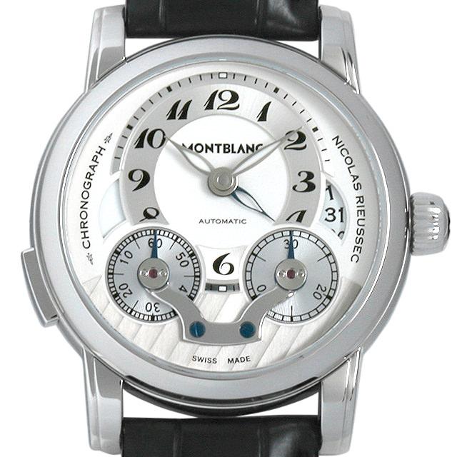 【48回払いまで無金利】モンブラン ニコラ・リューセック クロノグラフ モノプッシャー 106595 メンズ(007UMLAU0003)【中古】【腕時計】【送料無料】
