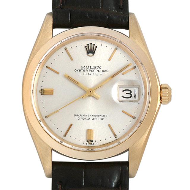ロレックス オイスターパーペチュアル デイト 19番 1500 ゴールド/バー メンズ(09Z6ROAA0001)【アンティーク】【腕時計】【送料無料】