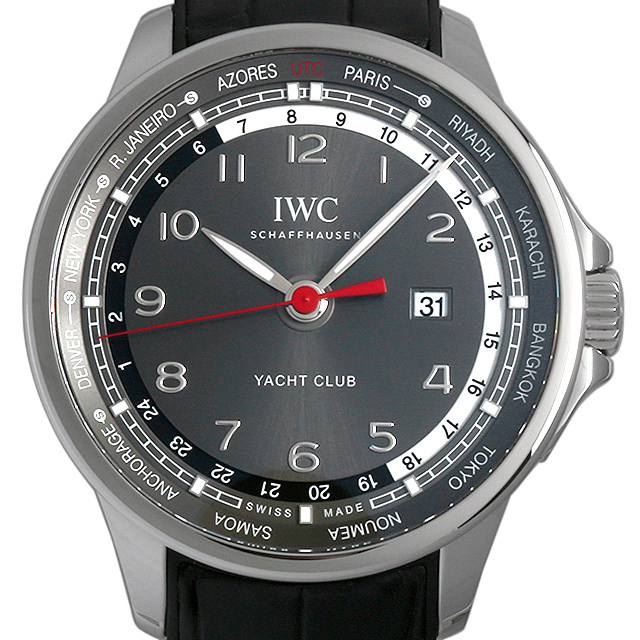 【48回払いまで無金利】IWC ポルトギーゼ ヨットクラブ ワールドタイマー 世界限定500本 IW326602 メンズ(0A89IWAU0003)【中古】【腕時計】【送料無料】