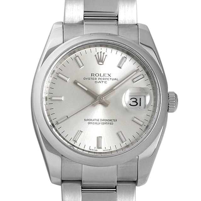 ロレックス オイスターパーペチュアル デイト Z番 115200 シルバー/バー メンズ(0AO7ROAU0001)【中古】【腕時計】【送料無料】