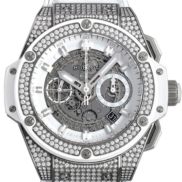 【48回払いまで無金利】ウブロ キングパワー ウニコ チタニウム ホワイト パヴェ 701.NE.0127.GR.1704 メンズ(0AOWHBAU0001)【中古】【腕時計】【送料無料】