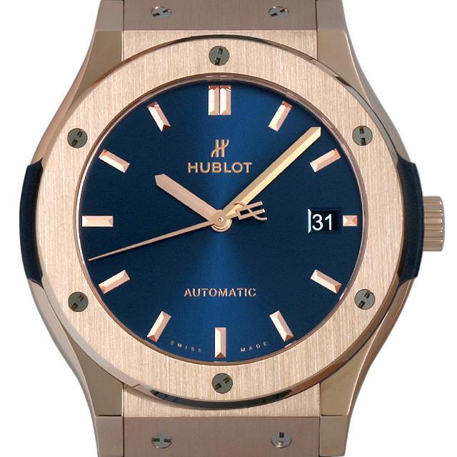 ウブロ クラシックフュージョン キングゴールド ブルー 511.OX.7180.LR メンズ(0ATMHBAU0001)【中古】【腕時計】【送料無料】