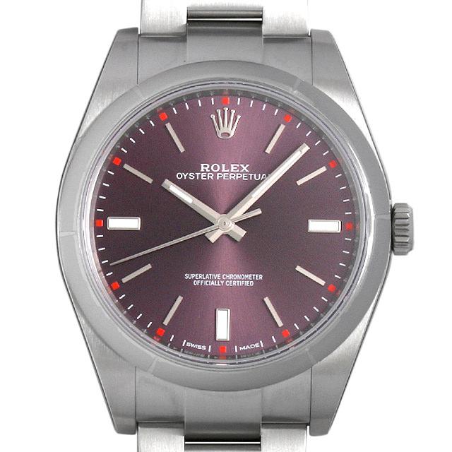 ロレックス オイスターパーペチュアル39 114300 レッドグレープ メンズ(002GROAR0008)【新品】【腕時計】【送料無料】