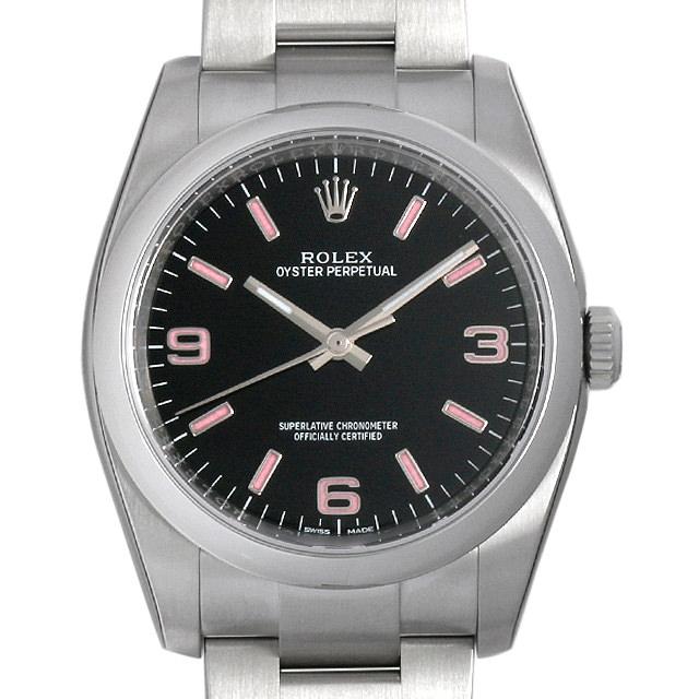 ロレックス オイスターパーペチュアル 116000 ブラック/ピンク369 メンズ(0066ROAN0100)【新品】【腕時計】【送料無料】