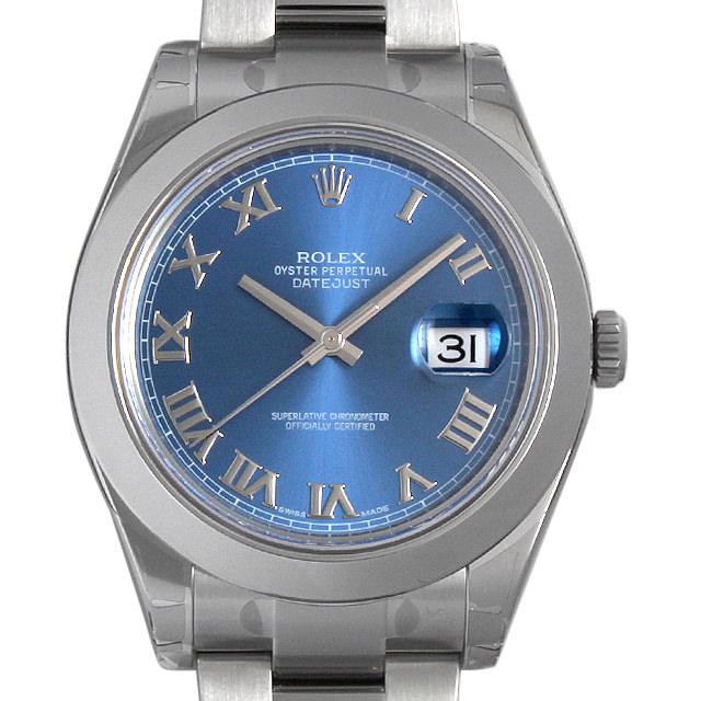 ロレックス デイトジャストII 116300 ブルー/ローマ メンズ(07NDROAN0120)【新品】【腕時計】【送料無料】