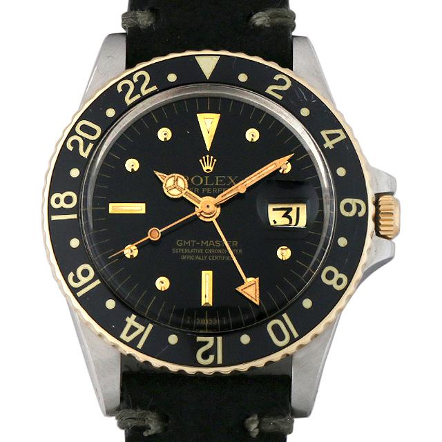 【48回払いまで無金利】ロレックス GMTマスター 58番 1675 フジツボダイアル メンズ(001HROAA0013)【アンティーク】【腕時計】【送料無料】