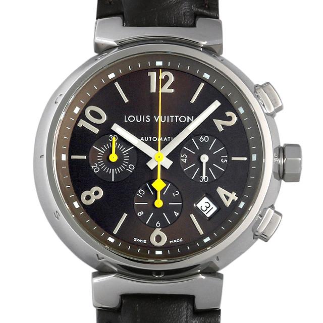 【48回払いまで無金利】ルイヴィトン タンブール クロノグラフ Q1121 メンズ(006XLVAU0006)【中古】【腕時計】【送料無料】