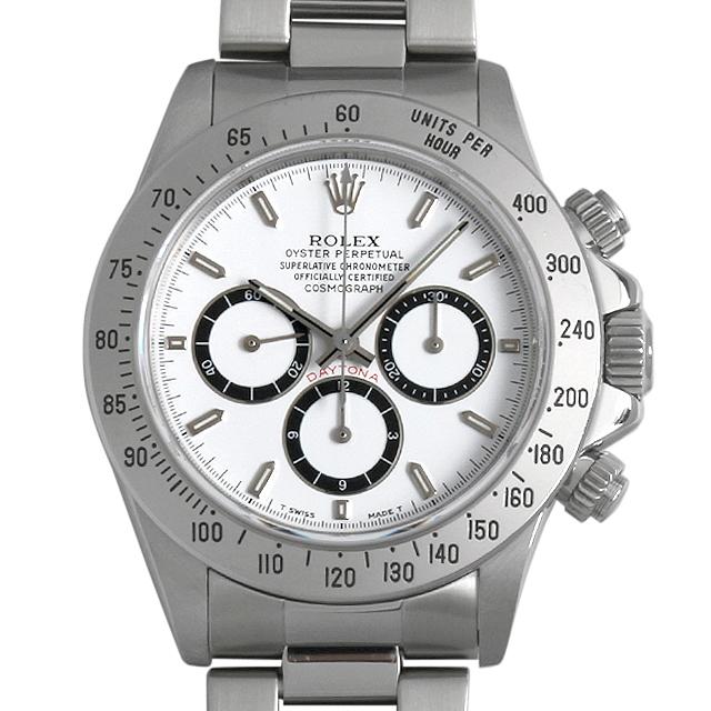 ロレックス コスモグラフ デイトナ S番 16520 ホワイト 逆6文字盤 メンズ(006XROAU0433)【中古】【腕時計】【送料無料】