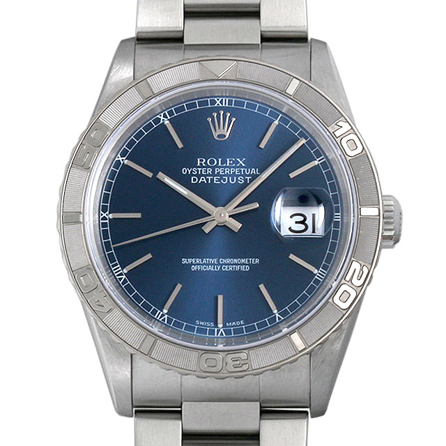 ロレックス デイトジャスト サンダーバード K番 16264 ブルー/バー メンズ(08KKROAU0001)【中古】【腕時計】【送料無料】