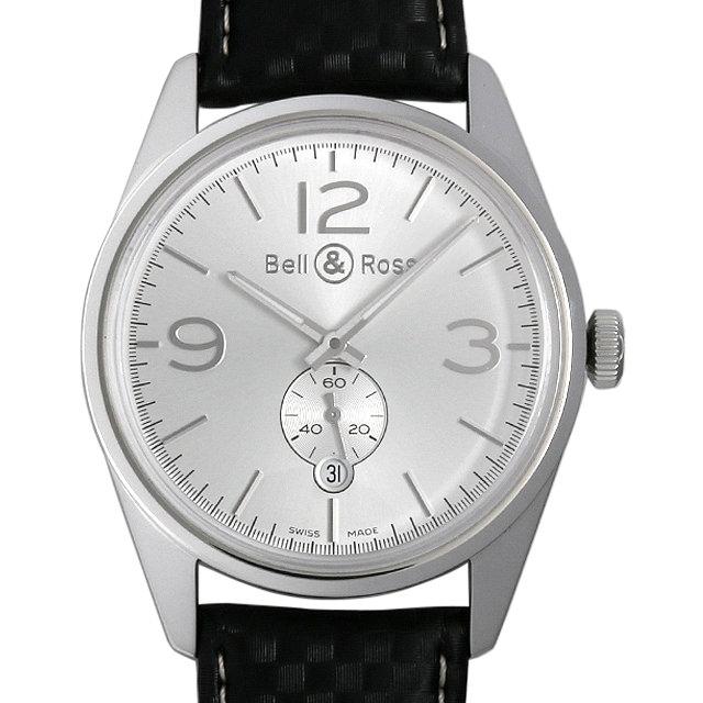 ベル&ロス ヴィンテージ BR123 オフィサー V-BR123 OF-W-AL メンズ(0AT1BOAU0001)【中古】【腕時計】【送料無料】