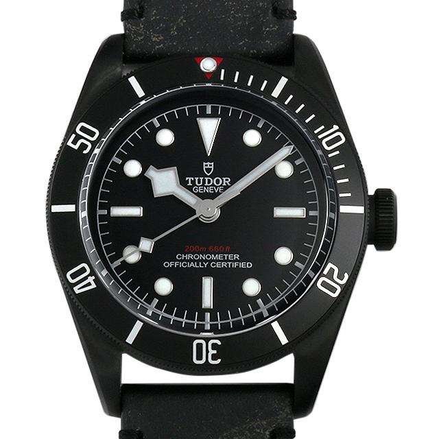 【48回払いまで無金利】チュードル ヘリテージ ブラックベイ ダーク 79230DK レザーストラップ メンズ(0671TUAN0043)【新品】【腕時計】【送料無料】