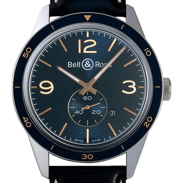 【48回払いまで無金利】ベル&ロス ヴィンテージBR123 アエロナバル BRV123-BLU-ST/SCA メンズ(006MBOAN0006)【新品】【腕時計】【送料無料】