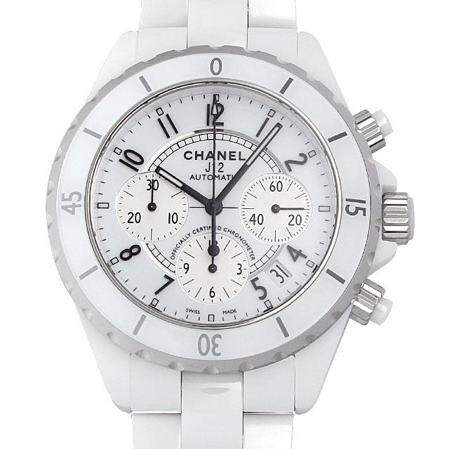 【48回払いまで無金利】シャネル J12 クロノグラフ 白セラミック H1007 メンズ(0671CHAN0140)【新品】【腕時計】【送料無料】