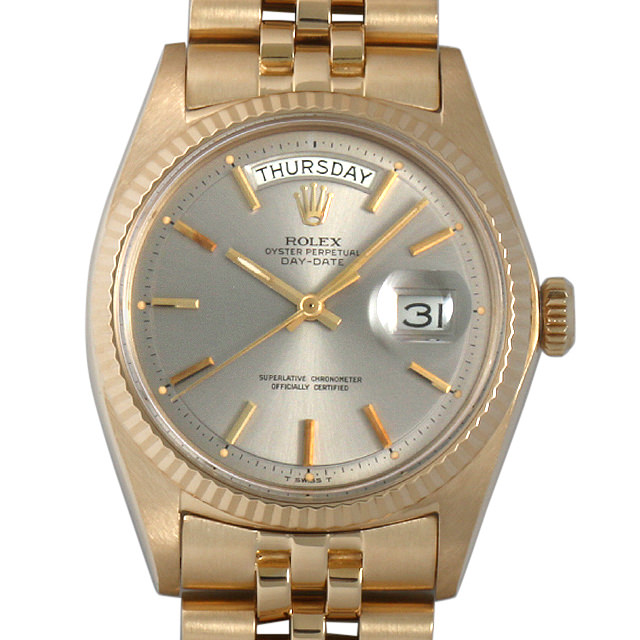 【48回払いまで無金利】SALE ロレックス デイデイト 24番 1803 グレー メンズ(0063ROAA0029)【アンティーク】【腕時計】【送料無料】