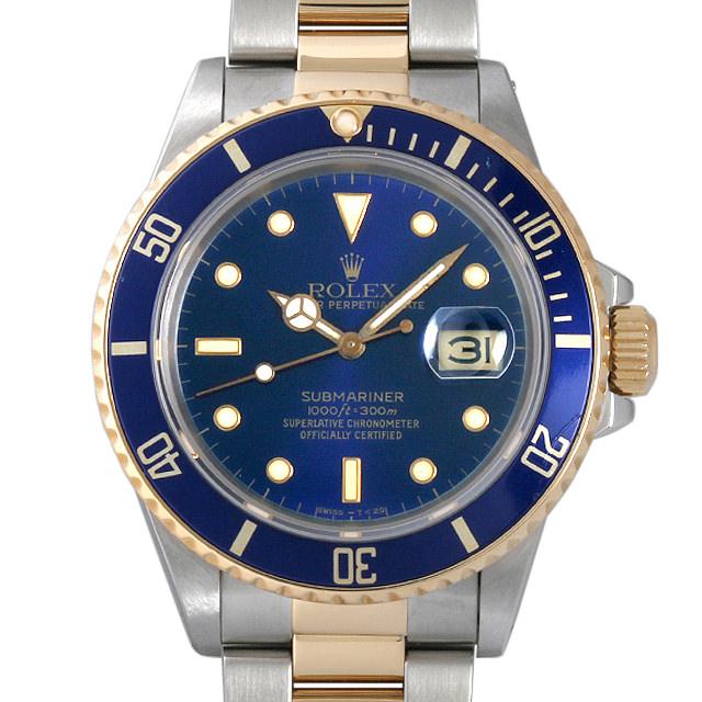 【48回払いまで無金利】ロレックス サブマリーナ デイト R番 16803 ブルー メンズ(006XROAU0441)【中古】【腕時計】【送料無料】