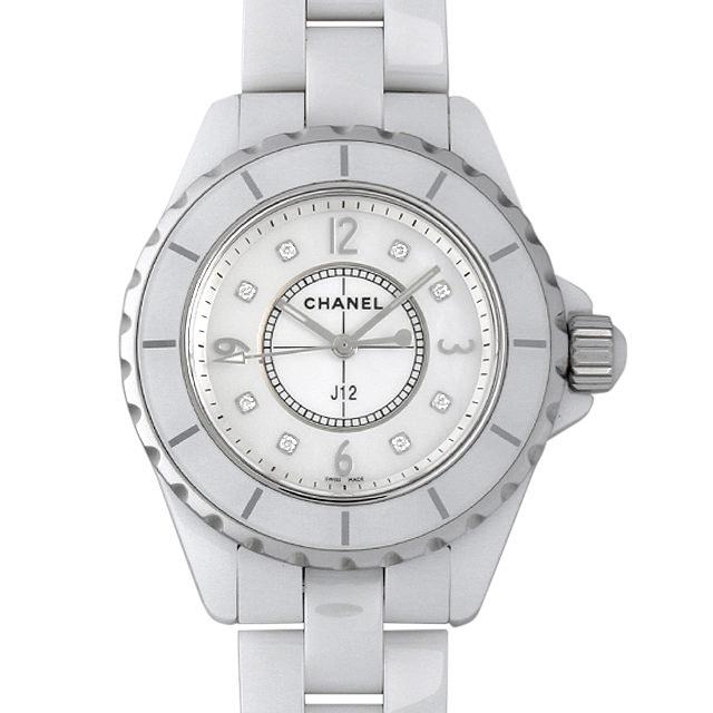 シャネル J12 白セラミック 8Pダイヤ H2422 レディース(0087CHAU0007)【中古】【腕時計】【送料無料】