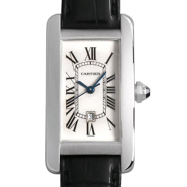 カルティエ タンクアメリカン MM W2603656 ボーイズ(ユニセックス)(0B6FCAAU0001)【中古】【腕時計】【送料無料】