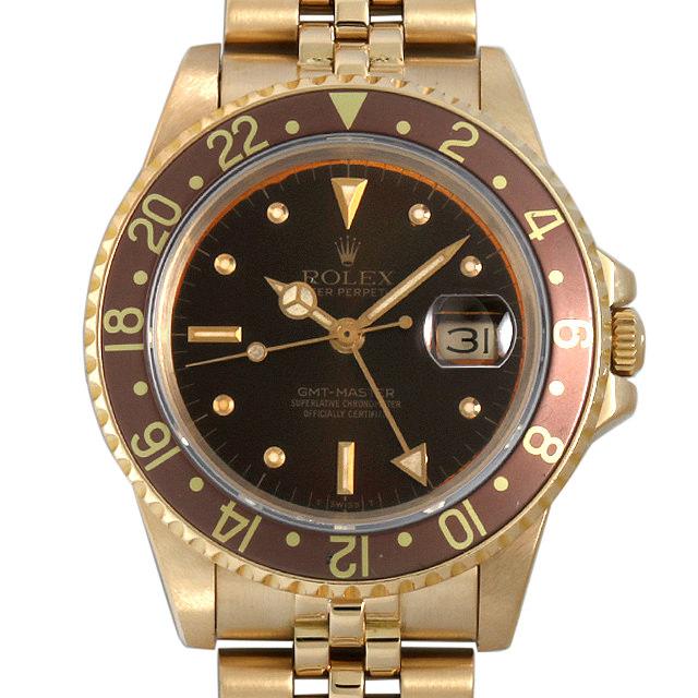 【48回払いまで無金利】SALE ロレックス GMTマスター 83番 16758 ブラウン フジツボダイアル メンズ(0BCCROAU0001)【中古】【腕時計】【送料無料】