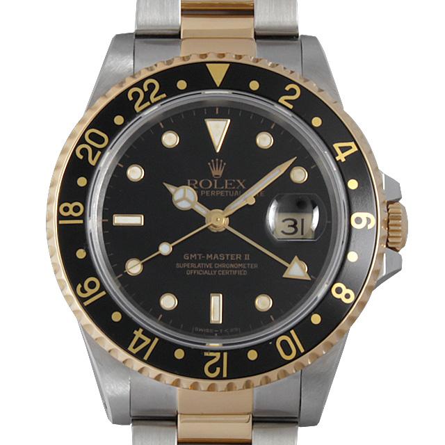 【48回払いまで無金利】SALE ロレックス GMTマスターII E番 16713 メンズ(0BPZROAU0001)【中古】【腕時計】【送料無料】