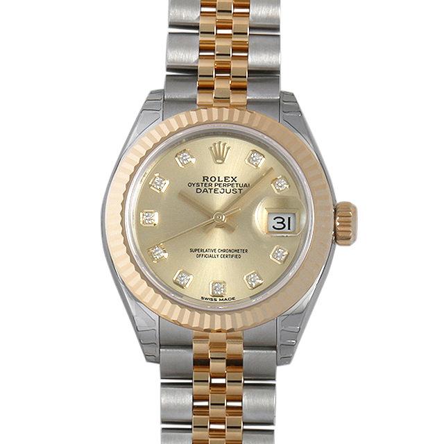 ロレックス デイトジャスト 10Pダイヤ 279173G シャンパン レディース(0018ROAR0056)【新品】【腕時計】【送料無料】