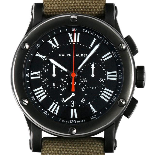 ラルフローレン クロノグラフ サファリ RL67 45mm RLR0230900 メンズ(0BDERALS0002)【中古】【未使用】【腕時計】【送料無料】