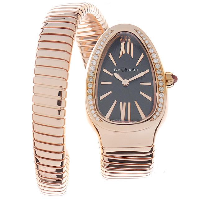 【48回払いまで無金利】ブルガリ セルペンティ トゥボカス ベゼルダイヤ SPP35BGDG.1T シングルスパイラル レディース(0014BVAU0005)【中古】【腕時計】【送料無料】