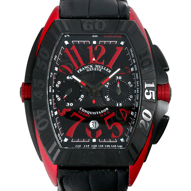【48回払いまで無金利】SALE フランクミュラー コンキスタドールグランプリ クロノグラフ エルガ 9900CC DT GPG メンズ(0063FRAU0009)【中古】【腕時計】【送料無料】