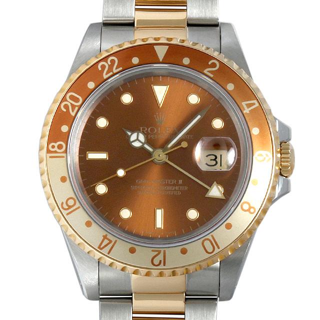 【48回払いまで無金利】SALE ロレックス GMTマスターII L番 16713 ブラウン メンズ(009VROAU0150)【中古】【腕時計】【送料無料】