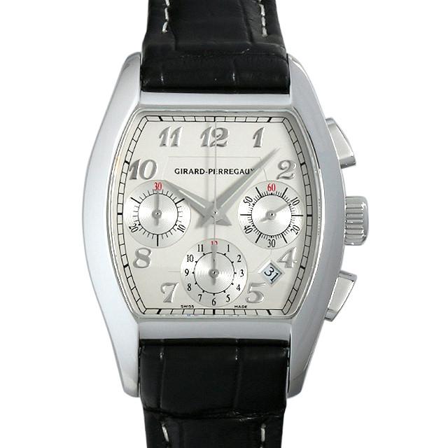 【48回払いまで無金利】ジラールペルゴ リシュビル クロノグラフ 27650-11-141-BACD メンズ(014MGIAU0001)【中古】【腕時計】【送料無料】