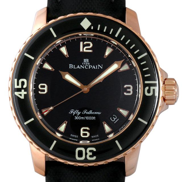 【48回払いまで無金利】ブランパン フィフティファゾムス 5015-3630-52 メンズ(01XEBPAU0001)【中古】【腕時計】【送料無料】