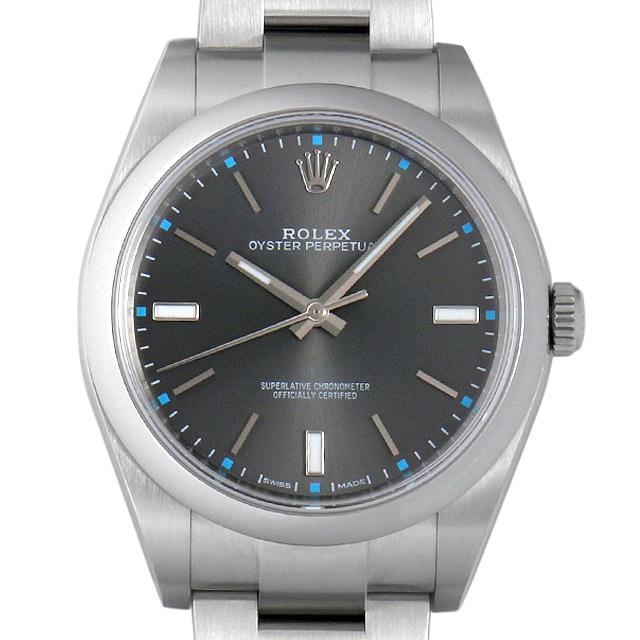 【48回払いまで無金利】ロレックス オイスターパーペチュアル39 114300 ダークロジウム メンズ(0CGNROAU0001)【中古】【腕時計】【送料無料】