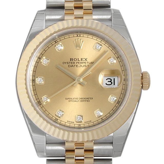 【48回払いまで無金利】ロレックス デイトジャスト 10Pダイヤ 126333G シャンパン メンズ(002XROAN0006)【新品】【腕時計】【送料無料】