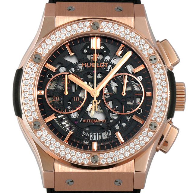 【48回払いまで無金利】ウブロ アエロフュージョン キングゴールド ダイヤモンド 525.OX.0180.LR.1104 メンズ(006MHBAN0096)【新品】【腕時計】【送料無料】