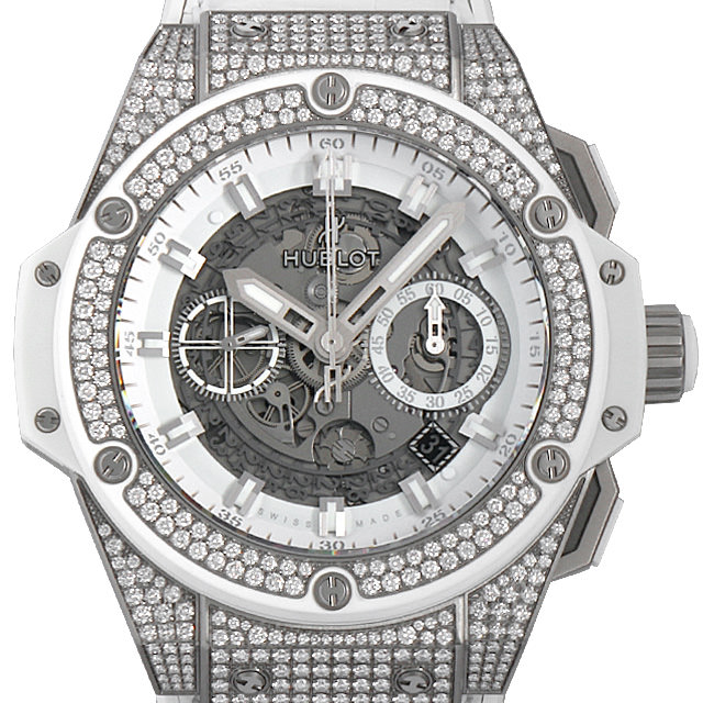 【48回払いまで無金利】ウブロ キングパワー ウニコ チタニウム ホワイト パヴェ 701.NE.0127.GR.1704 メンズ(009FHBAN0065)【新品】【腕時計】【送料無料】