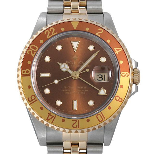 【48回払いまで無金利】ロレックス GMTマスターII Y番 16713 ブラウン メンズ(0063ROAU0155)【中古】【腕時計】【送料無料】