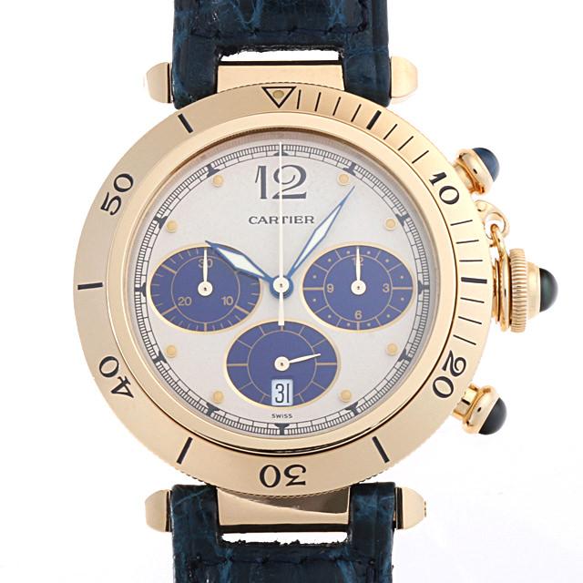 【48回払いまで無金利】カルティエ パシャ クロノグラフ W3000951 メンズ(006XCAAU0100)【中古】【腕時計】【送料無料】