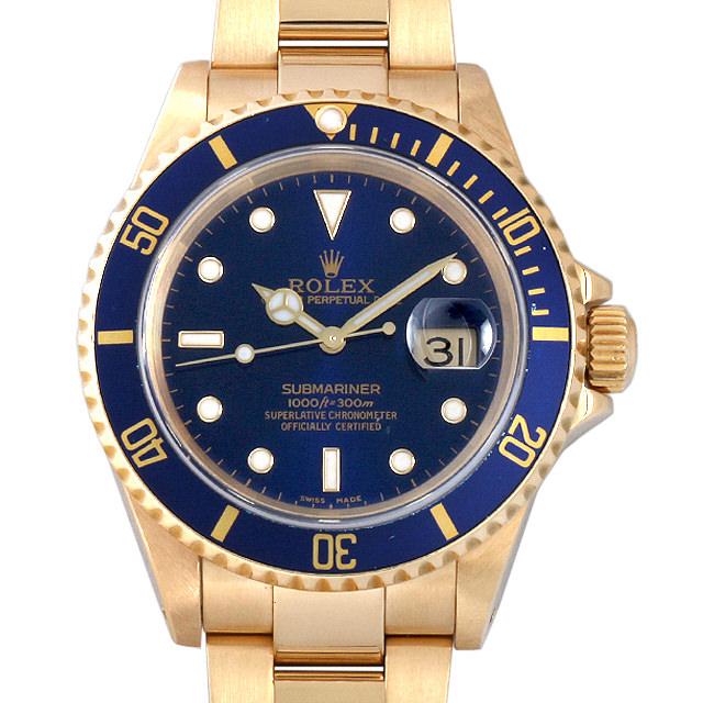 【48回払いまで無金利】SALE ロレックス サブマリーナ デイト A番 16618 ブルー メンズ(006XROAU0447)【中古】【腕時計】【送料無料】