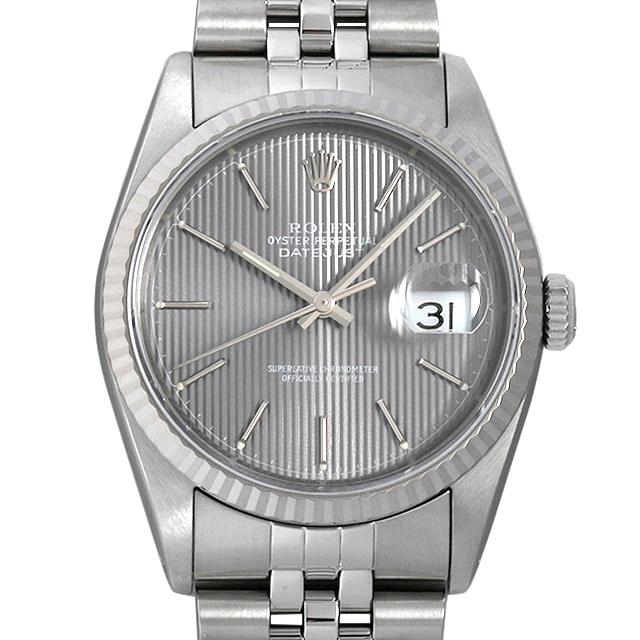 【48回払いまで無金利】ロレックス デイトジャスト X番 16234 グレー/バー メンズ(006XROAU0487)【中古】【腕時計】【送料無料】