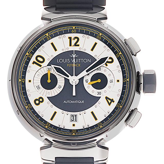 【48回払いまで無金利】SALE ルイヴィトン タンブール フライバック クロノヴォレ Q1028 メンズ(007ULVAU0016)【中古】【腕時計】【送料無料】