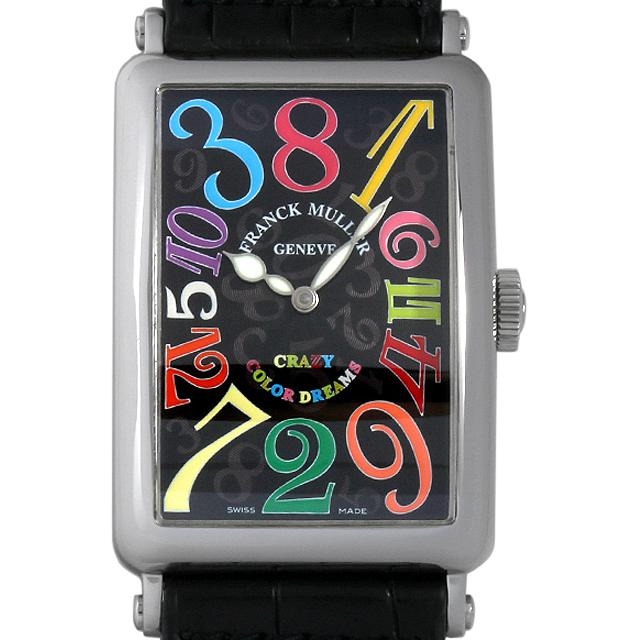 【48回払いまで無金利】フランクミュラー ロングアイランド クレイジーアワーズ カラードリームス 1200CH CD AC メンズ(0BCCFRAU0001)【中古】【腕時計】【送料無料】