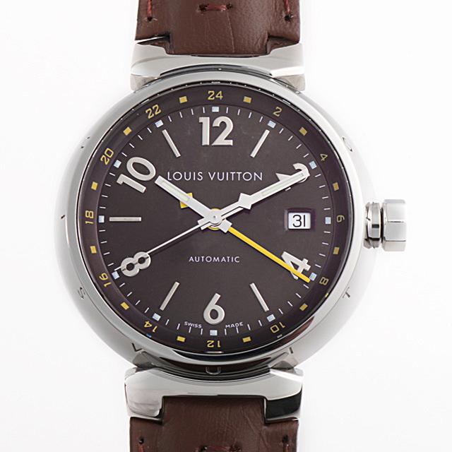 【48回払いまで無金利】ルイヴィトン タンブール GMT Q1131 メンズ(0BCCLVAU0001)【中古】【腕時計】【送料無料】