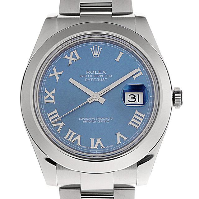 【48回払いまで無金利】ロレックス デイトジャストII 116300 ブルー/ローマ メンズ(0BYSROAU0002)【中古】【腕時計】【送料無料】