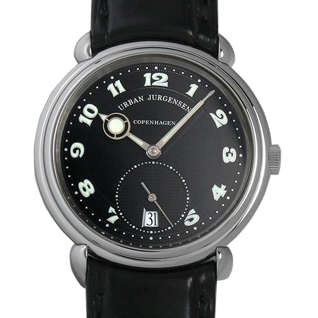 【48回払いまで無金利】SALE ウルバン ヤーゲンセン リファレンス8 50本限定モデル Ref.8 ブラック メンズ(0CLVURAU0001)【中古】【腕時計】【送料無料】