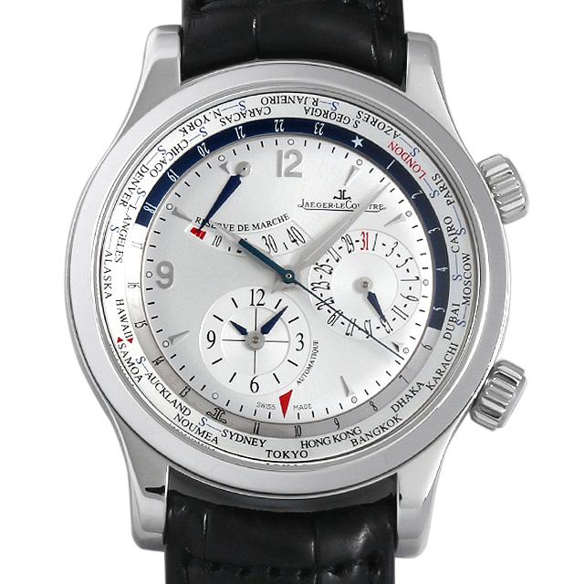 【48回払いまで無金利】ジャガールクルト マスターワールド ジオグラフィーク Q1528420(146.8.32.S) メンズ(006XJLAU0018)【中古】【腕時計】【送料無料】