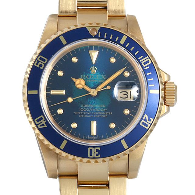 【48回払いまで無金利】SALE ロレックス サブマリーナ デイト フジツボダイアル 70番 16808 ブルー メンズ(006XROAU0474)【中古】【腕時計】【送料無料】